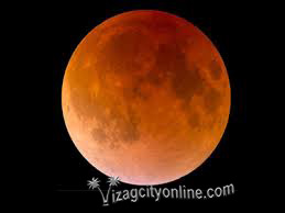 Blue Blood Moon, a total lunar eclipse and a super moon all at the same time